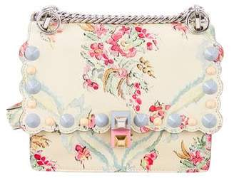 Fendi 2017 Floral Studded Mini Kan I Flap Bag