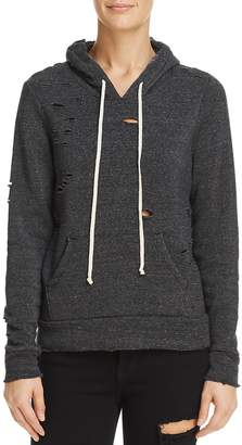 Alternative Distressed Hooded Sweatshirt