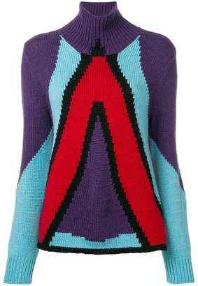 Bottega Veneta cashmere geometric panel jumper