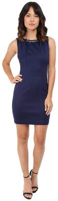 Jessica Simpson Embellished Sleeveless Scuba Dress JS5D7736 Women's Dress