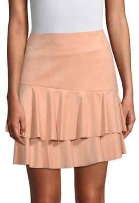BCBGMAXAZRIA Tiered Mini Skirt