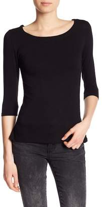 Dex Back Lace-Up 3/4 Length Sleeve Top