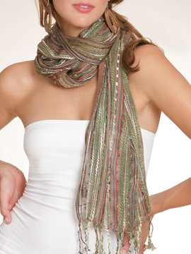 Mixed Yarn Scarf