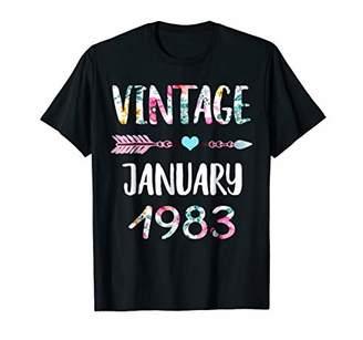 Vintage January 1983 36th Birthday Shirt Women Floral shirt