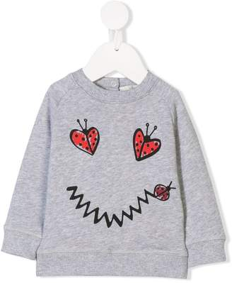 Stella McCartney smiley ladybird printed sweatshirt