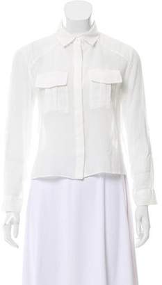 Alice + Olivia Semi-Sheer Button-Up Blouse w/ Tags
