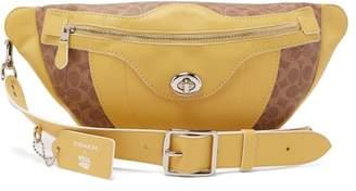 Coach Matty Bovan X Matty Bovan L Signature Canvas Belt Bag - Womens - Yellow Multi