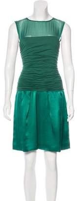 Philosophy di Alberta Ferretti Silk-Trimmed Sleeveless Dress