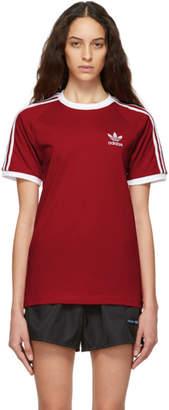 adidas Red Foundation 3-Stripes T-Shirt