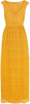 REDValentino - Crocheted Lace Maxi Dress - Saffron $950 thestylecure.com