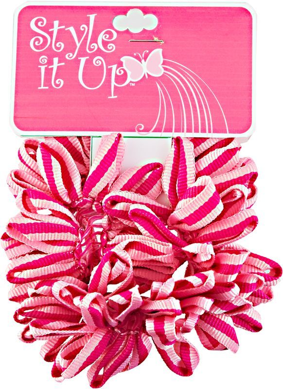 Sally Beauty Style It Up Pink Fabric Scrunchies