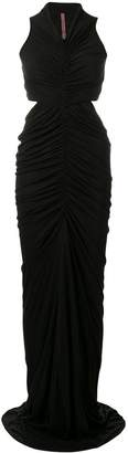 Rick Owens Lilies ruched cut out dress
