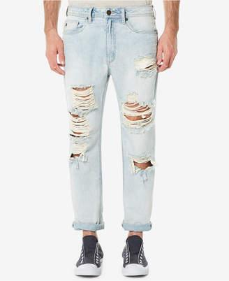 Buffalo David Bitton Men's Heavy Destructed Gunner Slouch Tapered Jeans
