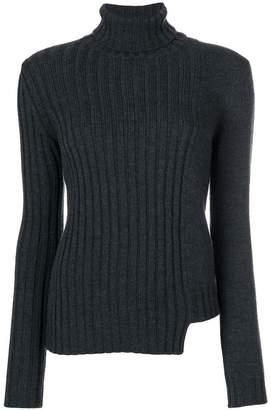 P.A.R.O.S.H. asymmetric hem roll neck sweater