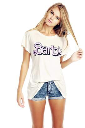 FV RELAY Women's Cute Barbie Printed Casual Teen Girls Tees Tops T Shirts (L, )