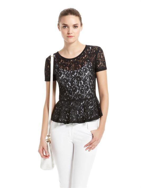 **** Lace Blouse With Peplum