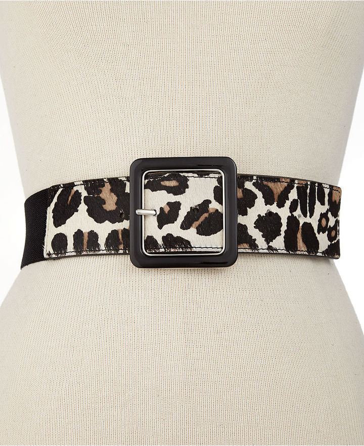 Nine West Stretch Belt with Haircalf Tabs Belt