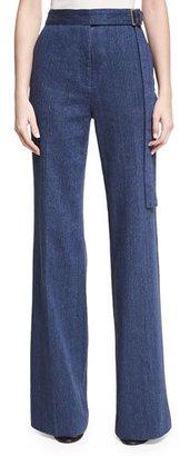 Josie Natori High-Waist Flare-Leg Jeans $495 thestylecure.com