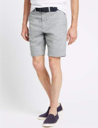 Marks and Spencer Pure Cotton Shorts with Belt
