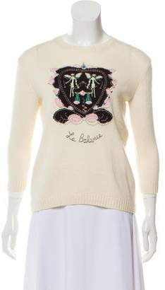 Christian Dior 2017 Embroidered Knit Sweater