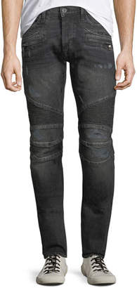 Hudson Men's Blinder Distressed Biker Jeans, Hacker