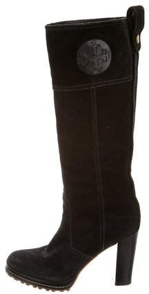 Tory Burch Tory Burch Logo Knee-High Boots
