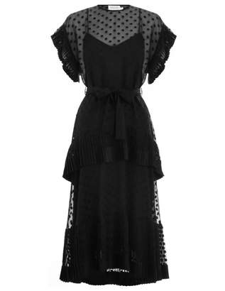Zimmermann Pleated Tier Dress