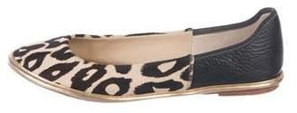 Diane von Furstenberg Ponyhair Round-Toe Flats