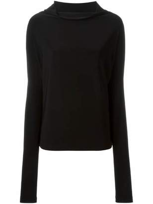 Norma Kamali x Kamalikulture draped neck longsleeved top