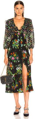 Rixo Bonnie Dress in Floral Spot Mono   FWRD