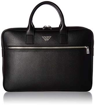 Emporio Armani Briefcase with Front Zip Pocket