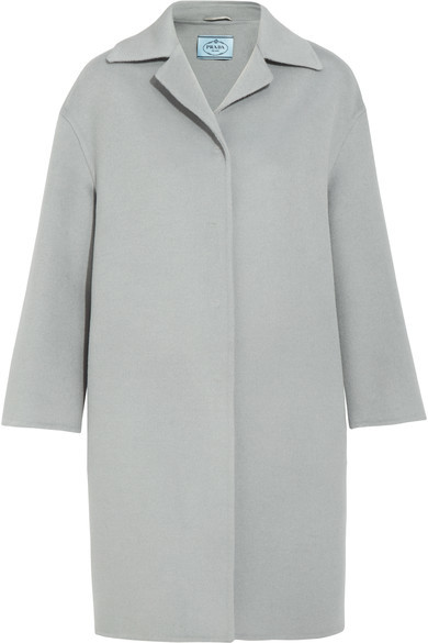 prada Prada - Wool, Angora And Cashgora-blend Coat - Gray