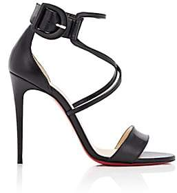 Christian Louboutin Women's Choca Leather Sandals-Black