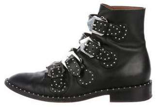 Givenchy Leather Studded Ankle Boots Black Leather Studded Ankle Boots
