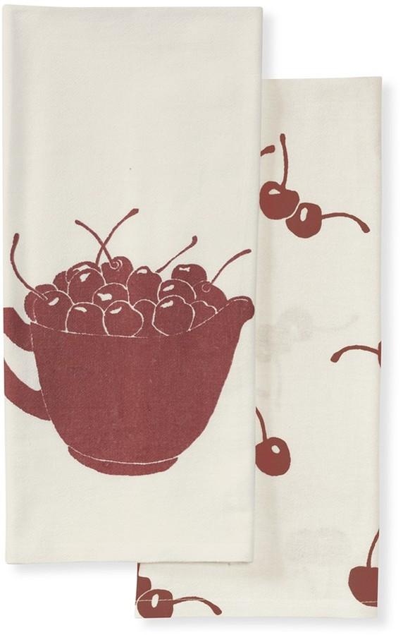 Williams-Sonoma Ice Cream Towels, Set of 2, Cherries