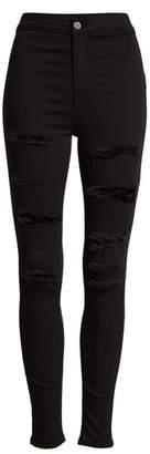 Topshop MOTO Joni Ripped Skinny Jeans
