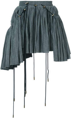 Y/Project Y / Project asymmeric pleated mini skirt