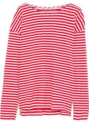 Current/Elliott The Breton Striped Cotton-Jersey Top