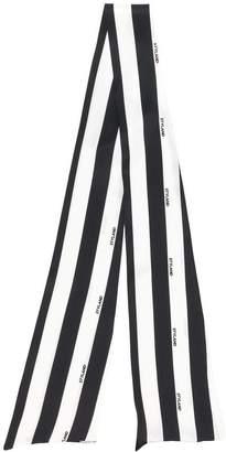 Styland striped thin scarf