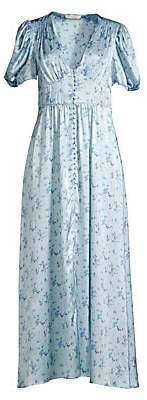 LoveShackFancy Women's Stacy Silk Maxi Dress