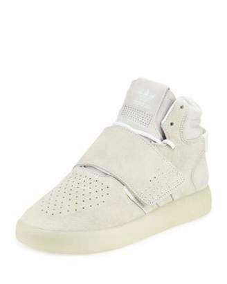 Adidas Tubular Invader Strap Sneaker, White $110 thestylecure.com