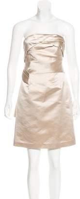 Celine Satin Strapless Dress