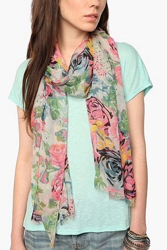 Pins and Needles Spring Floral Scarf