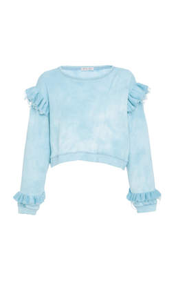 LoveShackFancy Relaxed Ruffle Sweatshirt