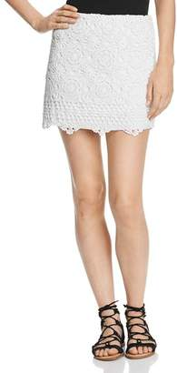 Bailey 44 Sesame Crochet Mini Skirt