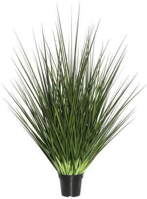Beachcrest Home Artificial Foliage Floor Grass in Pot