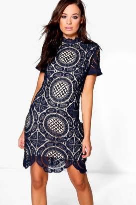 boohoo Boutique Ayn Cap Sleeve Bodycon Dress $62 thestylecure.com
