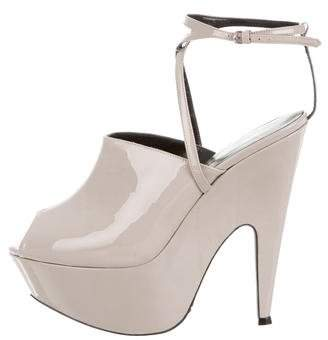 Narciso Rodriguez Patent Leather Platform Sandals