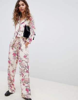 B.young Floral Printed Pajama Shirt