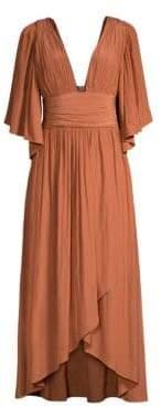 Ramy Brook Kinslie Plunging Neckline Dress